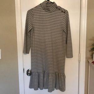 Kate Spade Mock Neck Stripped Knit Dress